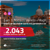Promoção de Passagens 2 em 1 – <b>ROMA OU VENEZA + MADRI</b>! A partir de R$ 2.043, todos os trechos, c/ taxas! Datas até SETEMBRO/20!