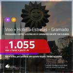 Promoção de <b>PASSAGEM + HOTEL 5 ESTRELAS</b> para <b>GRAMADO</b>! A partir de R$ 1.055, por pessoa, quarto duplo, c/ taxas em até 10x SEM JUROS!