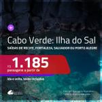 Promoção de Passagens para a <b>ILHA DO SAL, Cabo Verde, na África</b>! A partir de R$ 1.185, ida e volta, c/ taxas!