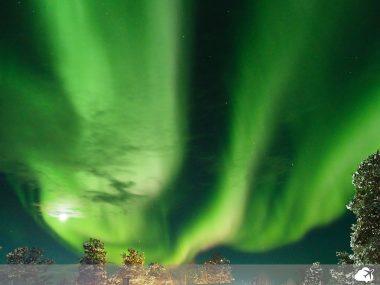 aurora boreal na finlândia