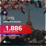 Promoção de Passagens para <b>PARIS</b>! A partir de R$ 1.886, ida e volta, c/ taxas!