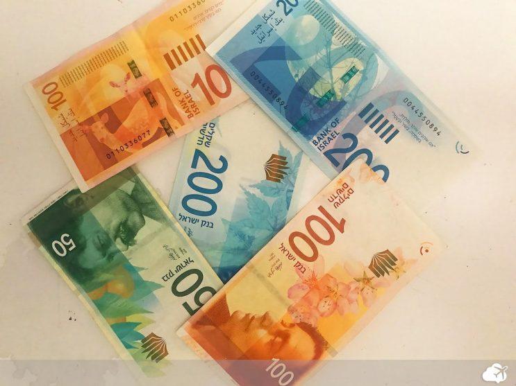 notas da moeda de israel