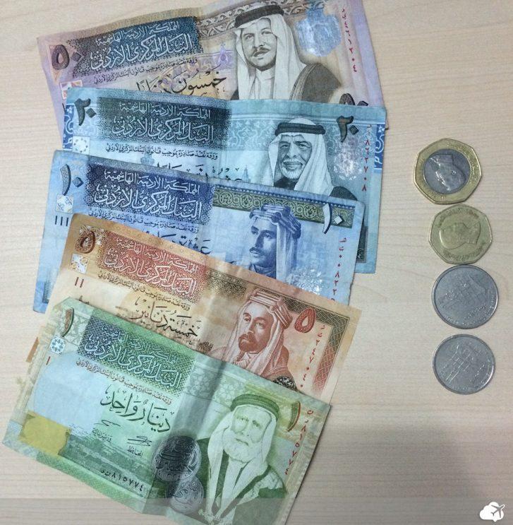 moeda jordania notas dinar