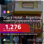 Promoção de <b>PASSAGEM + HOTEL</b> para <b>BUENOS AIRES</b>! A partir de R$ 1.276, por pessoa, quarto duplo, c/ taxas em até 10x SEM JUROS!