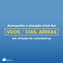 Status de voos e cias. aéreas por causa do coronavírus