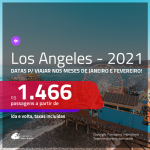 Promoção de Passagens para <b>LOS ANGELES</b>! A partir de R$ 1.466, ida e volta, c/ taxas! Opções de VOO DIRETO!