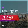 Passagens para <b>LOS ANGELES</b>, com datas a partir de SET/20! A partir de R$ 1.442, ida e volta, c/ taxas! Com opções de VOO DIRETO, voando AMERICAN AIRLINES!