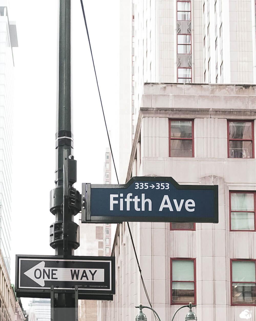 placa quinta avenida nova york