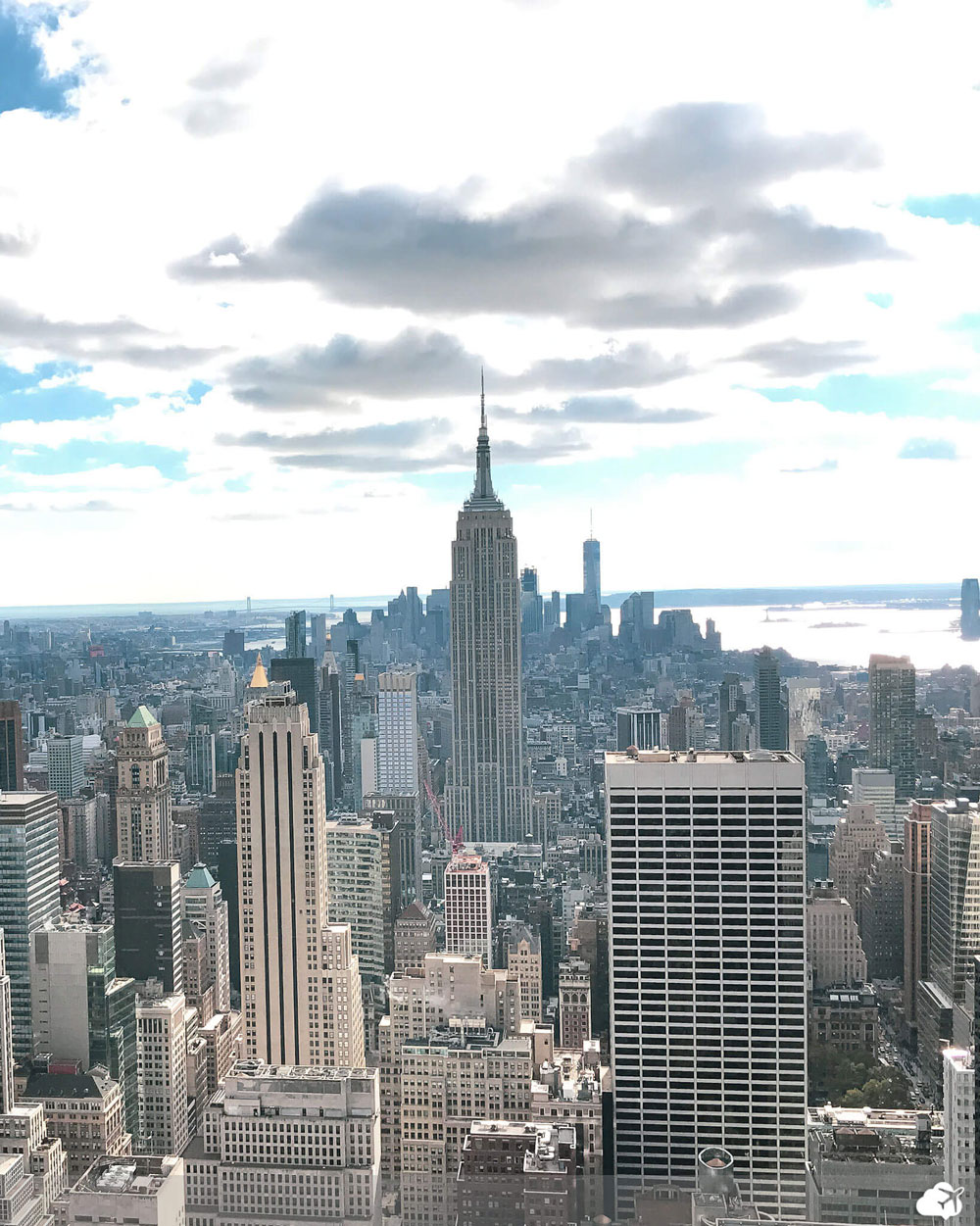 vista do mirante top of the rock no rockefeller center nova york