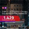 Passagens 2 em 1 – <b>LOS ANGELES + CHICAGO</b>, com datas para viajar em OUTUBRO e NOVEMBRO 2020! A partir de R$ 1.429, todos os trechos, c/ taxas!