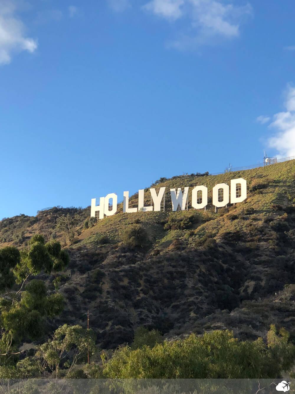 letreiro hollywood los angeles