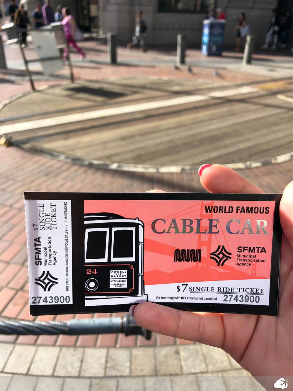 passagem cable car san francisco