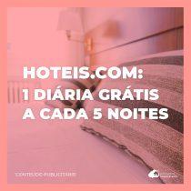 Selos em Dobro: ganhe 1 noite a cada 5 diárias usando Hoteis.com