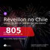 Passagens para o <b>RÉVEILLON</b>! Vá para o <b>CHILE: Santiago</b>! A partir de R$ 805, ida e volta, c/ taxas!