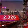 PARA VIAJAR EM 2021!!! Passagens 2 em 1 – <b>LOS ANGELES + NOVA YORK</b>, com datas para viajar a partir de JAN/21 até JUNHO 2021! A partir de R$ 2.326, todos os trechos, c/ taxas!