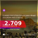 Muito bom! Da Europa para o Brasil, em CLASSE EXECUTIVA! De Budapeste para SP, com datas até 2021, a partir de R$ 2.709, ida e volta, c/ taxas!