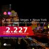 Passagens 2 em 1 – <b>LAS VEGAS + NOVA YORK</b>, com datas para viajar em 2021: de Janeiro até Junho! A partir de R$ 2.227, todos os trechos, c/ taxas!