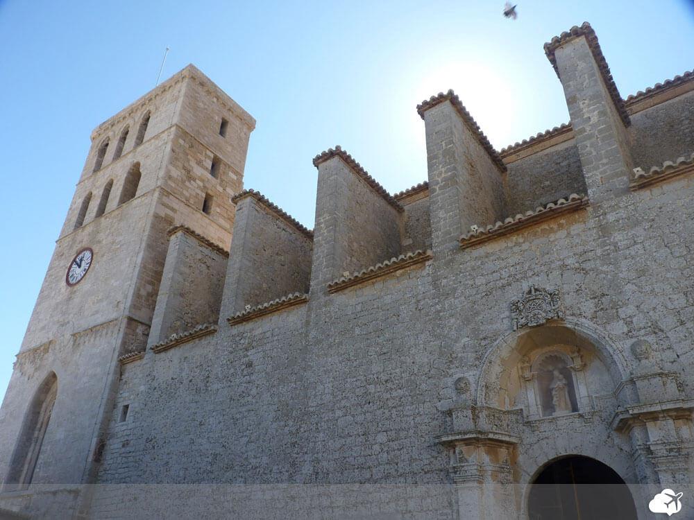 catedral de ibiza, no centro histórico
