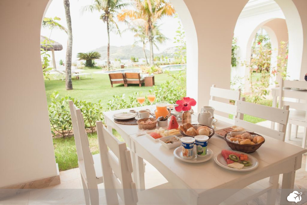 café da manhã na pousada villa raphael