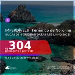 IMPERDÍVEL!!! Passagens para <b>FERNANDO DE NORONHA</b>! A partir de R$ 304, ida e volta, c/ taxas!