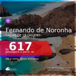 Passagens para <b>FERNANDO DE NORONHA</b>! A partir de R$ 617, ida e volta, c/ taxas!
