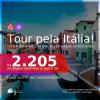 Tour pela <b>ITÁLIA</b>! Chegue por <b>Roma</b>, e vá embora por <b>Veneza</b>, ou vice-versa! A partir de R$ 2.205, todos os trechos, c/ taxas!