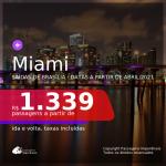BAIXOU!!! Passagens para <b>MIAMI</b>! A partir de R$ 1.339, ida e volta, c/ taxas! Datas a partir de Abril/2021! Saídas de Brasília!