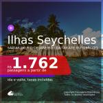 MUITO BOM!!! Promoção de Passagens para as <b>ILHAS SEYCHELLES: Ilha de Mahé</b>! A partir de R$ 1.762, ida e volta, c/ taxas! Datas até Outubro/21!