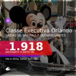 Promoção de Passagens em <b>CLASSE EXECUTIVA</b> para <b>ORLANDO</b>! A partir de R$ 1.918, ida e volta, c/ taxas!