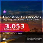 Passagens em <b>CLASSE EXECUTIVA</b> para <b>LOS ANGELES</b>! A partir de R$ 3.053, ida e volta, c/ taxas!