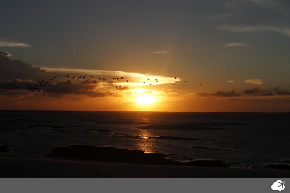 pôr do sol em santo amaro do maranhão