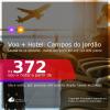 Promoção de <b>PASSAGEM + HOTEL</b> para <b>CAMPOS DO JORDÃO</b>! A partir de R$ 372, por pessoa, quarto duplo, c/ taxas! Datas até 2022! Em até 12x SEM JUROS!