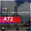 Promoção de <b>PASSAGEM + HOTEL</b> na melhor localização de <b>GRAMADO</b>! A partir de R$ 472, por pessoa, quarto duplo, c/ taxas! Datas até 2022! Em até 12x SEM JUROS!