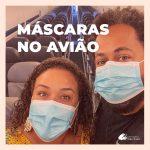 Saiba quais tipos de máscara se pode usar no avião e aeroporto