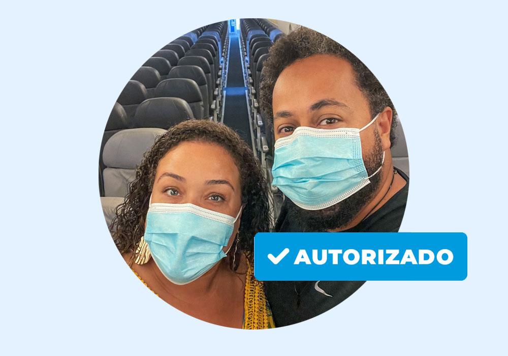 mascara cirurgica no aviao