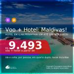 Promoção de <b>PASSAGEM + HOTEL</b> em Ilha Privativa nas <b>MALDIVAS</b>! A partir de R$ 9.493, por pessoa, quarto duplo, c/ taxas! Datas até Outubro/2021!