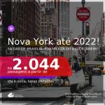 Passagens para <b>NOVA YORK</b>! A partir de R$ 2.044, ida e volta, c/ taxas! Datas até 2022!