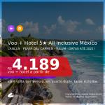 Promoção de <b>PASSAGEM + HOTEL ALL INCLUSIVE</b> no MÉXICO: <b>CANCÚN, PLAYA DEL CARMEN OU TULUM</b>! A partir de R$ 4.189, por pessoa, quarto duplo, c/ taxas! Em até 10x sem juros! Comidas e bebidas incluídas! Datas até 2022!