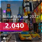 Passagens para <b>NOVA YORK</b>! A partir de R$ 2.040, ida e volta, c/ taxas! Datas até 2022!