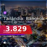 Passagens para a <b>TAILÂNDIA: Bangkok</b>! A partir de R$ 3.829, ida e volta, c/ taxas! Datas até 2022!