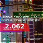 Passagens para <b>NOVA YORK</b>! A partir de R$ 2.062, ida e volta, c/ taxas! Datas até 2022!