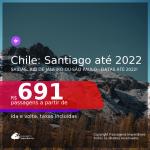Promoção de Passagens para o <b>CHILE: Santiago</b>! A partir de R$ 691, ida e volta, c/ taxas! Datas até 2022!