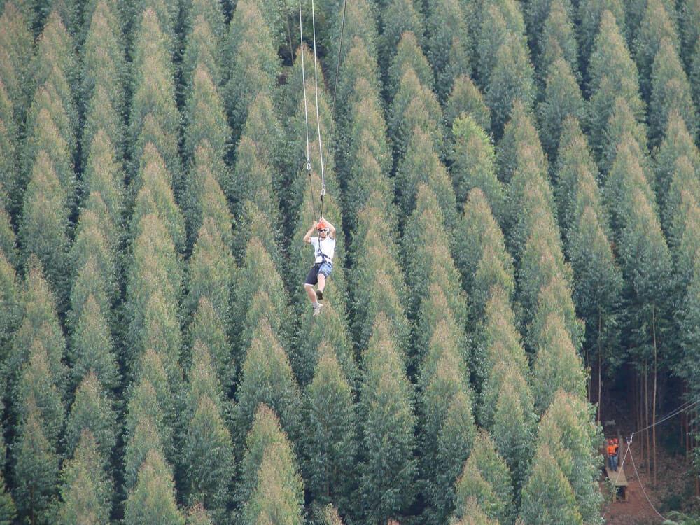 maior tirolesa de monte verde
