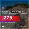 Passagens para o <b>RECIFE ou NATAL</b>! A partir de R$ 275, ida e volta, c/ taxas! Datas até 2022!