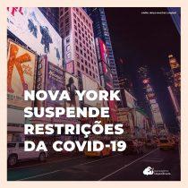 Estado de Nova York suspende últimas restrições da Covid-19
