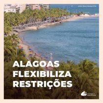 Alagoas reabre praias e flexibiliza restrições do comércio