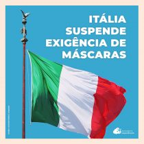 Itália retira exigência do uso de máscaras ao ar livre