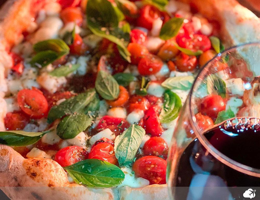 pizza com vinho bento goncalves