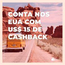 Ganhe US$ 15 de cashback na abertura da conta e 1ª remessa internacional pela Nomad