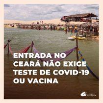 Não é mais obrigatório teste ou vacina contra Covid-19 para viajar ao Ceará de avião